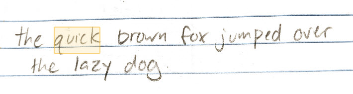 ocr-handwriting